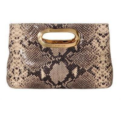 Michael Kors Clutch Schwarz Gold