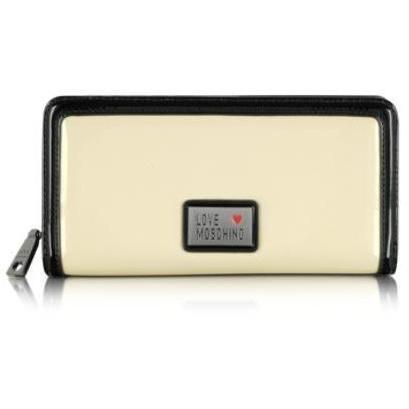 Moschino Brieftasche in elfenbeinfarben und schwarz