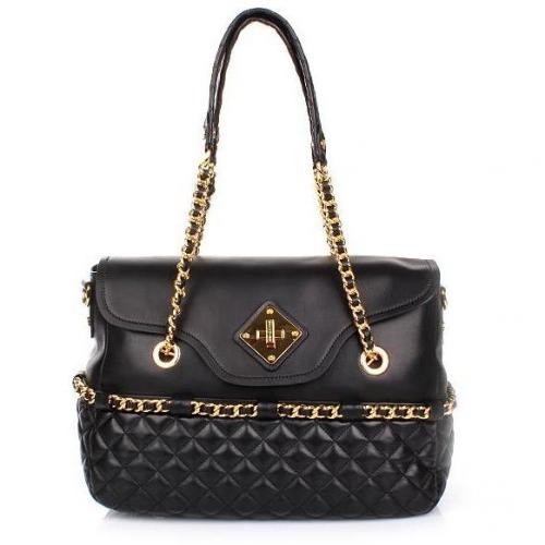 Moschino Shoulder Bag Black Quilted