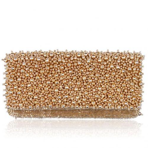 Moyna Foldover Tasche Gold