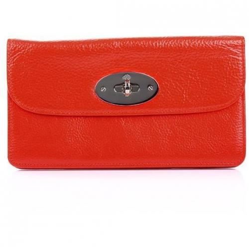 Mulberry Long Locked Purse Soft Spongy Flame