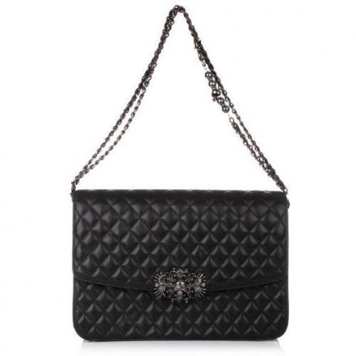 philipp plein handbag mono black designer handtaschen. Black Bedroom Furniture Sets. Home Design Ideas