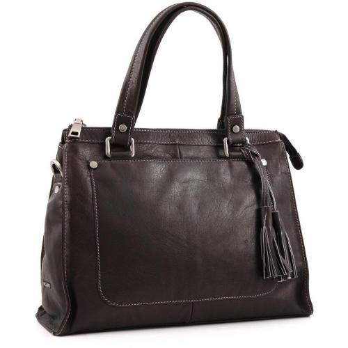 picard diana shopper leder kaffee designer handtaschen. Black Bedroom Furniture Sets. Home Design Ideas