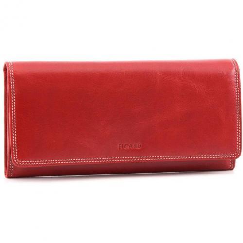0814cdd33bd7e7 Picard Porto Geldbörse Damen Leder rot