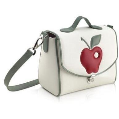 Pineider Snack Tasche Roter Apfel aus Leder
