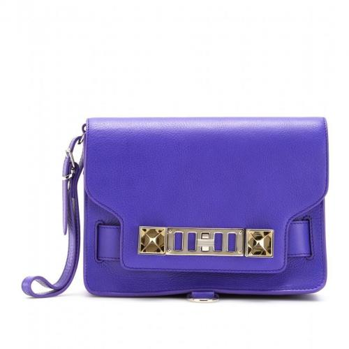 Proenza Schouler Ps 11 Lederclutch Purple Rain