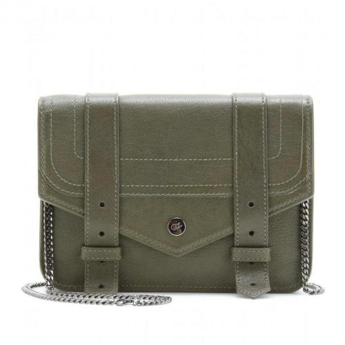 Proenza Schouler Ps1 Large Chain Ledertasche Military