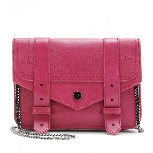 Proenza Schouler Ps1 Large Chain Ledertasche Raspberry