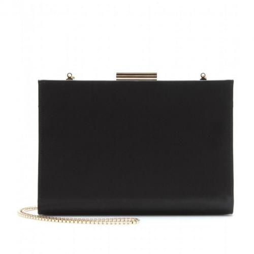 Salvatore Ferragamo Layla Satinclutch Nero
