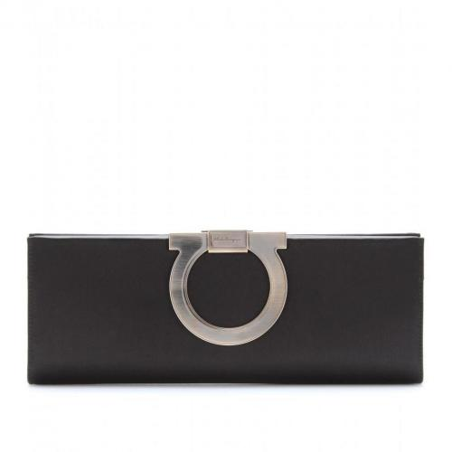 Salvatore Ferragamo Musa Satin-Clutch