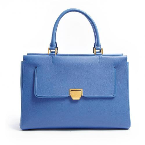 Smythson Nile Blue W1 East West Tote