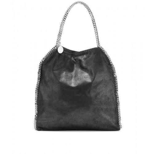 Stella McCartney Falabella Shaggy Deer Big Tasche Black