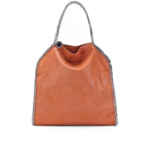 Stella McCartney Falabella Shaggy Deer Big Tasche Tangerine