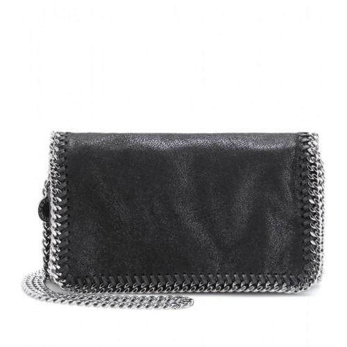 Stella McCartney Falabella Shaggy Deer Mini Fold-Over Schultertasche