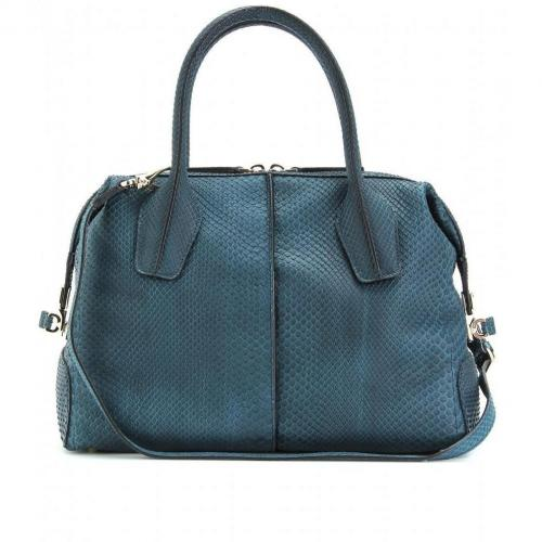 Tod's D-Styling Bauletto Medio Pythonledertasche