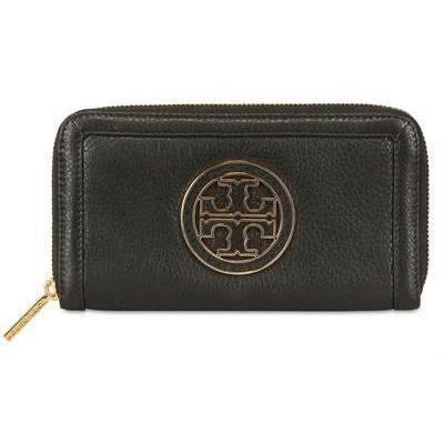 Tory Burch - Amanda Pebbled Leder Zip Around Brieftasche