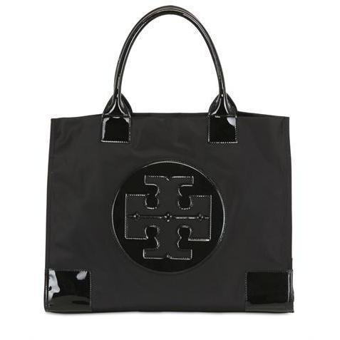 tory burch ella logo nylon tasche. Black Bedroom Furniture Sets. Home Design Ideas