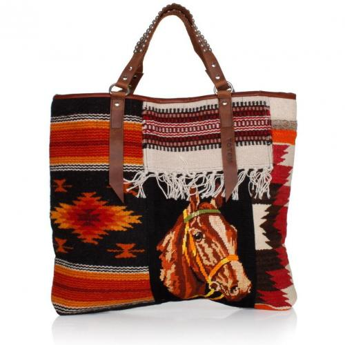 Totem Tasche Horse Tote Dunkelrot