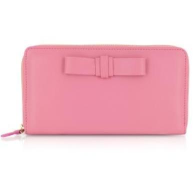 Valentino Garavani Brieftasche aus rotem Leder mit Schleife