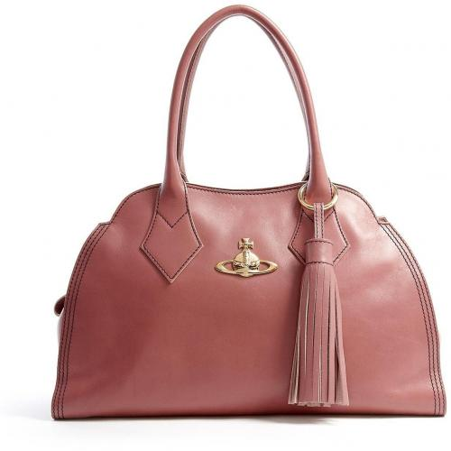 Vivienne Westwood Accessories Pink Dolce Vita Calf Leather Tote