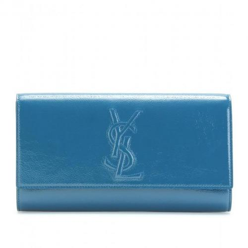 Yves Saint Laurent Belle De Jour Lacklederclutch Blau