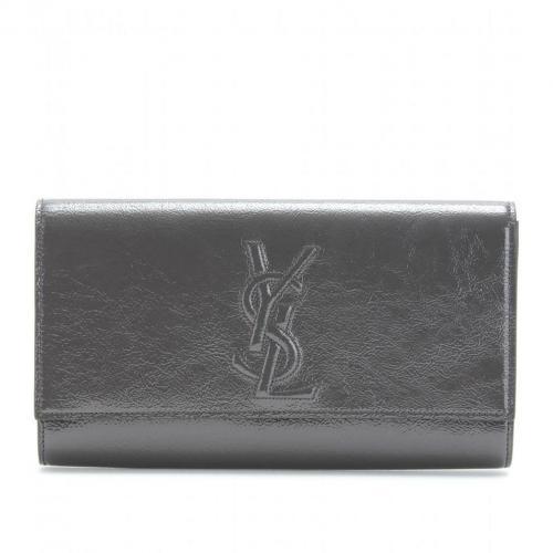 Yves Saint Laurent Belle De Jour Lacklederclutch Grau