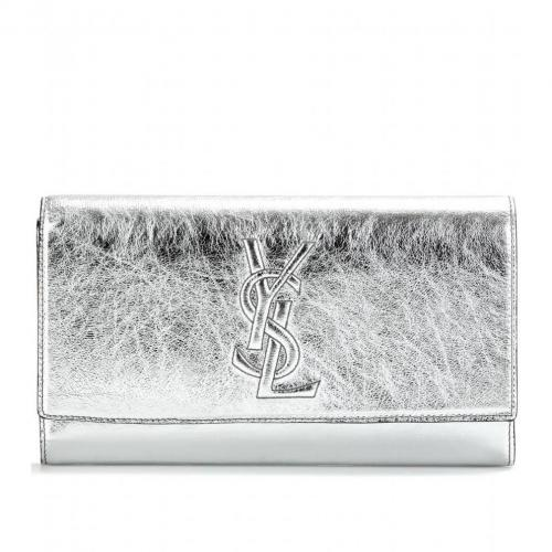 Yves Saint Laurent Belle De Jour Lacklederclutch Metallic