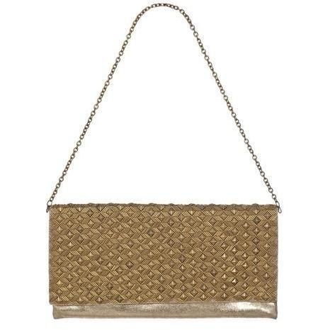 Deepa Gurnani Clutch Gold