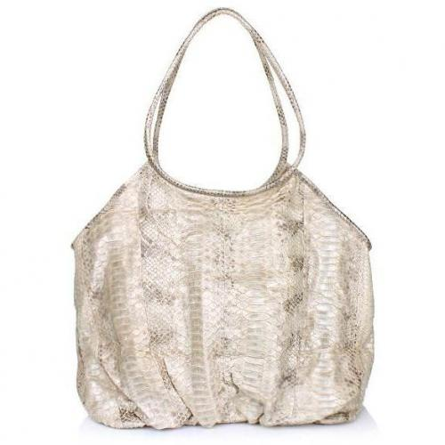 Desiree Lai Gemma Python Bag Nature Silver