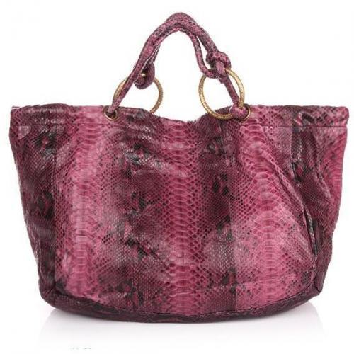 Desiree Lai Isla Python Bag Nature Berry