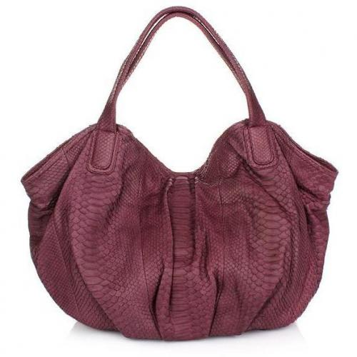 Desiree Lai Miranda Python Bag Violet