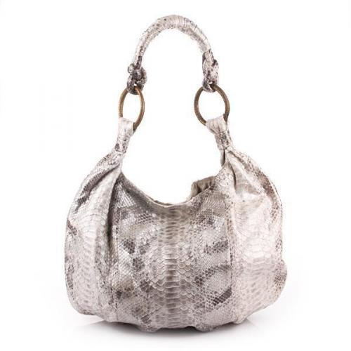 Desiree Lai Ohio Python Bag Nature Silver