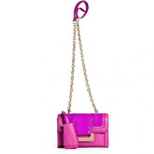 Diane von Furstenberg Fuchsia Snakeskin/Leather New Harper Crossbody Bag