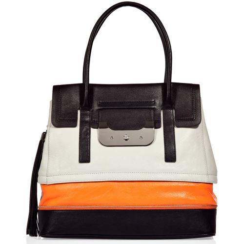 Diane von Furstenberg Harper Laurel Tasche Neon Orange