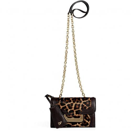 Diane von Furstenberg Leopard Haircalf New Harper Crossbody Bag