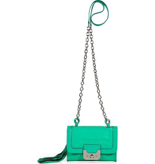 Diane von Furstenberg Harper Tasche mit Kette Jadegrün