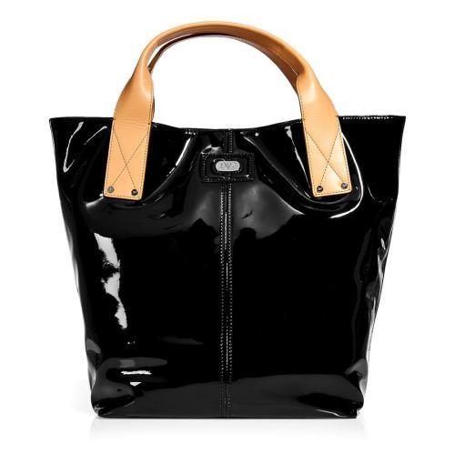 Diane von Furstenberg Schwarze Patent Addison Tote Bag
