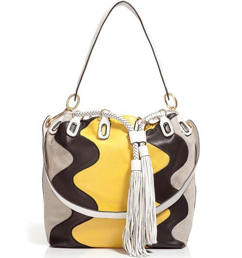 Diane von Furstenberg Penny Wave Suede Bucket Tasche