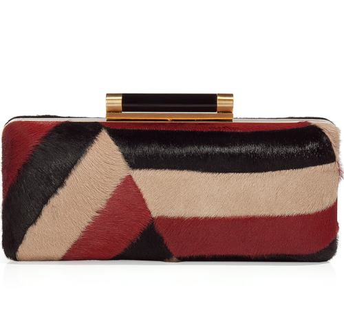 Diane von Furstenberg Ruby Pony Patchwork Clutch Bag