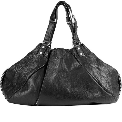 Diane von Furstenberg Schwarze Draped Wrap Tasche