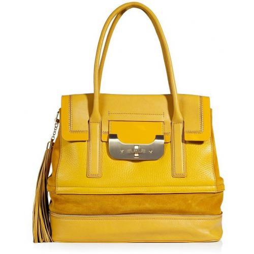 Diane von Furstenberg Senape Yellow Harper Laurel Shoulder Bag