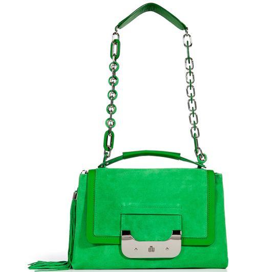 Diane von Furstenberg Suede Harper Daybag Grün