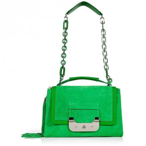 Diane von Furstenberg Turf Green Suede Harper Daybag