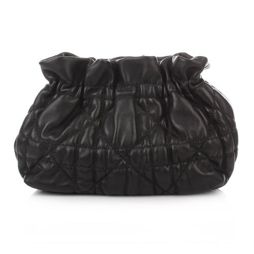 Christian Dior Delices Gaufre Cannage Mini Bag Black