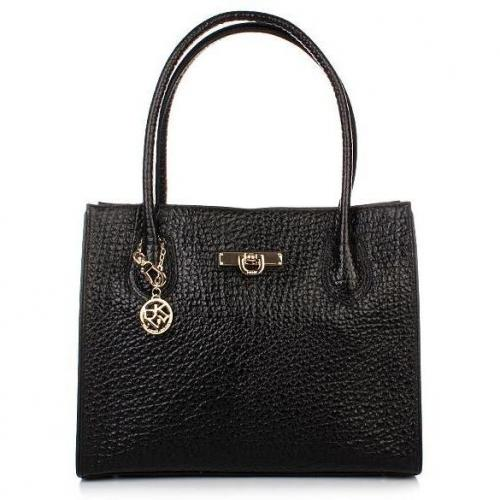 DKNY Beekman-French Grain W/Mini D Tote Black