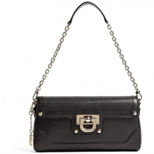 DKNY Black Heritage Leather Clutch