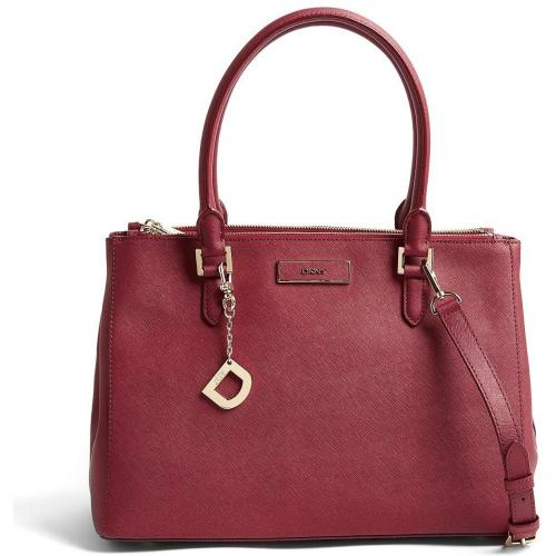 DKNY Burgundy Saffiano Leather Work Tote