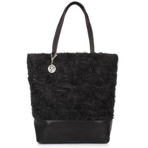 DKNY Corsage Lace Shoppper black