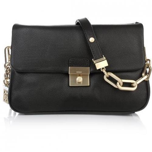 DKNY Crosby - Classic Lock Shoulder Bag Small Black