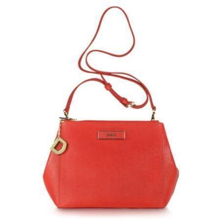 DKNY Crossbodybag aus rotem Saffiano-Leder